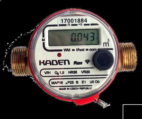 radiový elektronický vodoměr Kaden